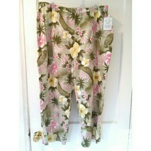 Pendleton NWT Floral Lined Pant High Rise
